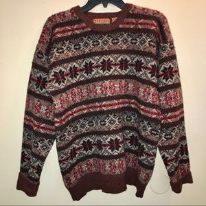 Vintage Northern Explorer 100%wool grandpa sweater